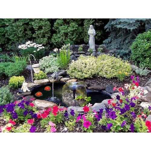 New 84 Gallon Complete Garden Water Fountain Pond Kit Ebay
